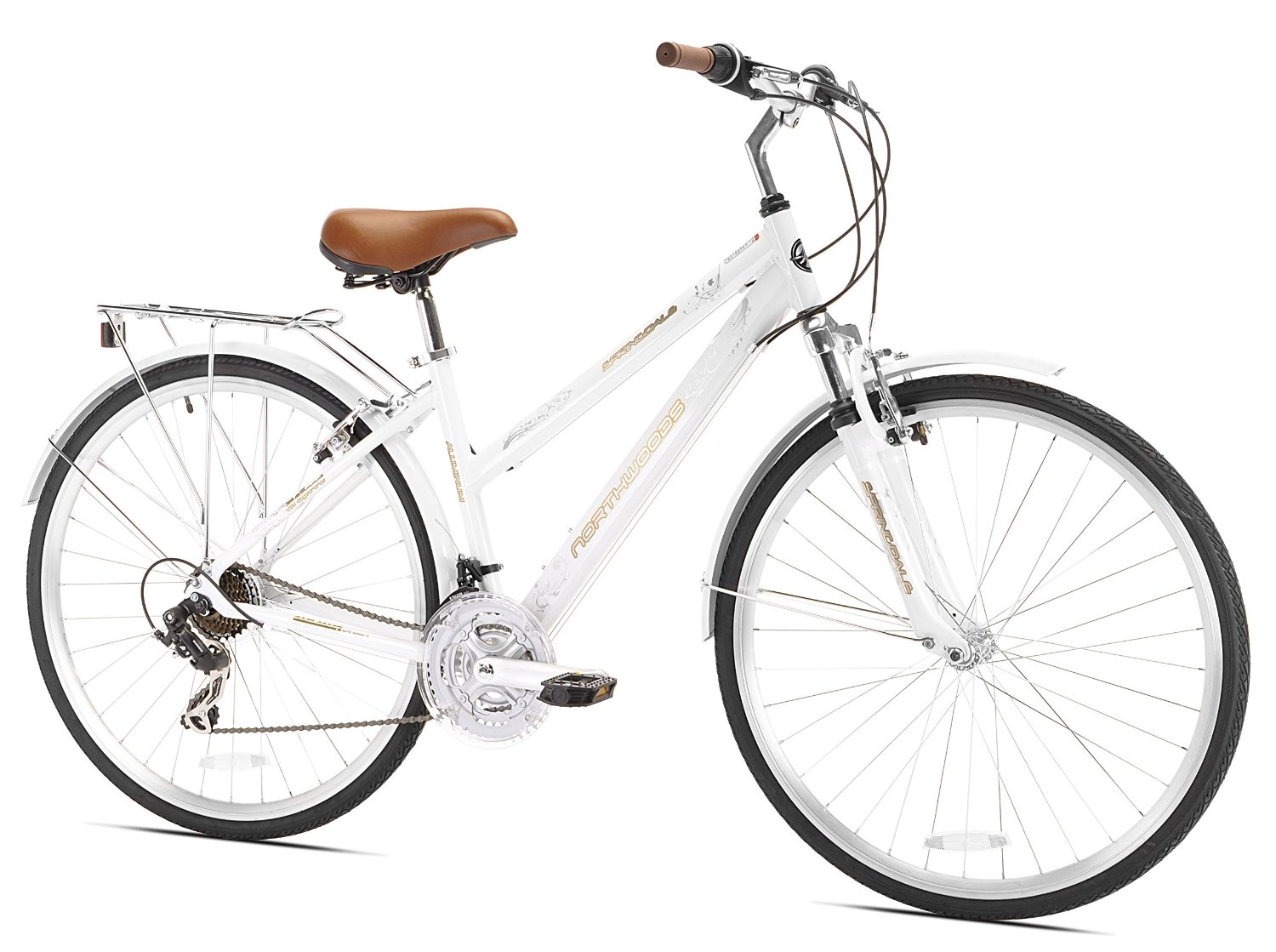 Northwoods Ladies Springdale 21 Speed Hybrid Bicycle